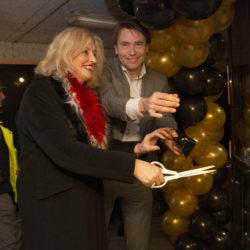 The mayor opens the office during a Christmas party